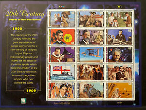 20TH CENTURY SHEET 15 stamps 1900-09, MARSHALL ISLANDS 1997 Postage $0.60 MNH