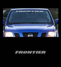 "Frontier Front Windshield 36"" Banner Decal Sticker Fits All Nissan Frontier"