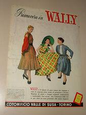 COTONIFICIO VALLE DI SUSA TORINO=ANNI '50=PUBBLICITA=ADVERTISING=WERBUNG=287