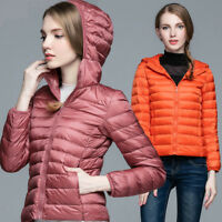 90% Duck Down Coat Women's Hooded Jacket Puffer Ultralight Winter Short Coat New
