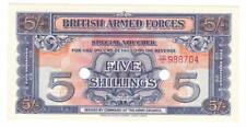 England BRITISH ARMED FORCES 5 Shillings aUNC Banknote (1948) P- M20 CD/1 Prefix