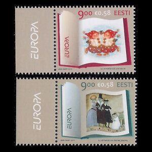 Estonia 2010 - Europa Stamps Children's Books Art - Sc 643/4 MNH