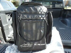 New Discraft Paul McBeth GRIPeq AX4 Bag. Limited Edition Black Flag With Putter