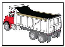 EasyCover Black Dump Truck Trailer Mesh Flip Tarps 12ft W x 55ft L