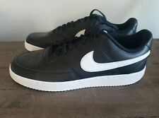 Nike Men's Court Vision Low Gym Black Leather Sneakers Size 13 CD5463-001 NEW