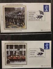 GB 1982 Falklands Victory Parade Benham Covers Plymouth & London SHS