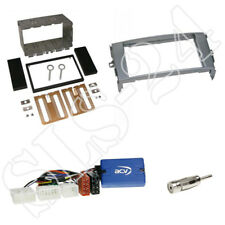 Toyota Auris 03/2007-10/2012 Radioblenden Set grau + Kenwood Lenkradadapter Set