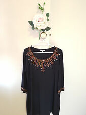 ✿♡ 'Capture' Womens Little Black Dress Size 12 (Elegant Copper 60's Evening) ♡✿