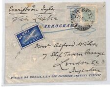 CE112 Aviation 1943 Brazil *PANAIR* via Lisboa London GB Airmail {samwells}