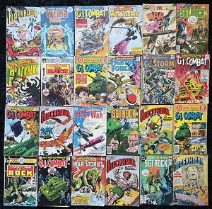 SILVER AGE DC Comic Book WAR Lot of 24 - 10¢ 12¢ Sgt Rock - Blackhawk - Combat
