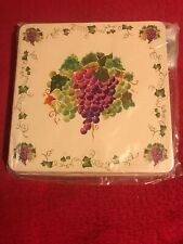Almond Grapes Square Gas Stove Burner Covers, Set of 4, Grapes Almond