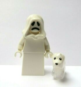 LEGO Ghost Minifigure Reversible Head & Ghost Dog  Halloween Monster