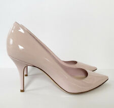 NIB DIOR CHERIE ROSE LIGHT PINK PATENT LEATHER HEELS POINTY PUMPS SHOES 41 10