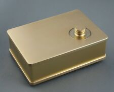 Douk Audio Passive Preamp Chassis Pre-Amplifier Case DIY Aluminum Enclosure Gold