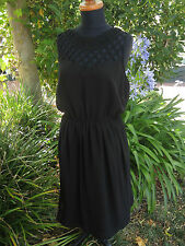 Classic Little Black Dress by NEW LOOK Size  20 Lattice Cut Out Detail