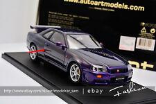 Autoart 1:18 nissan Skyline GTR R34 V-SPEC purple