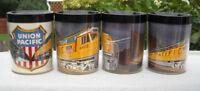 4 Vintage THERMO SERV Union Pacific Railroad Plastic Mugs 8 oz UP Train