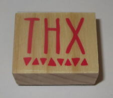 THX Rubber Stamp Thanks New Wood Mounted Triangles