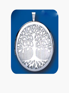Tree of Life Locket Sterling Silver 20 x 25mm 925 Hallmark All Chain Lengths