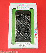 "KRUSELL Aluminium & Bioplastic Cover 89750 for iPhone 5 & 5S in Black Grid ""NEW"""