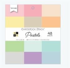 "DCWV 6"" x 6"" Cardstock Stack ~  PASTELS Printed Textured -48ct. ~PS-005-00548"
