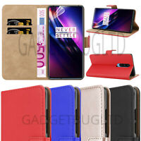 CASE FOR ONEPLUS 8 REAL GENUINE LEATHER SHOCKPROOF WALLET FLIP COVER