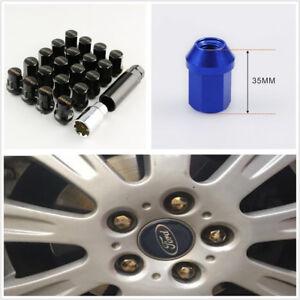 20X Universal M12X1.5 Race Car Modified Black Wheel Screws Anti-theft Nuts Screw