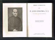 Pere Luis Coloma Obras Completas Leather Binding Espana 1952