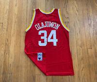 Houston Rockets Hakeem Olajuwon Vintage 90's Champion Jersey 44 L EUC Rare NBA