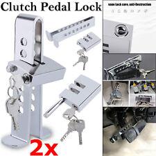 2x Car Stainless Brake Clutch Pedal Lock Steering Wheel Lock Security Anti-Theft