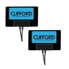 Clifford 620C Blue Flashing Alarm Sticker G4 G5 alarms or universal fit - 1 PAIR