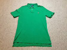 Ralph Lauren Polo Shirt Green  Boys Age 18 - 20 Years  (H 616)