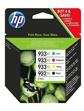 4 Cartucce Originali HP 932 933XL Nero Tricromia 6100 6600 6700 Stampante Inkjet