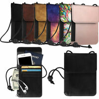 Premium PU Leather Passport Holder Neck Pouch [RFID Blocking] Travel Wallet