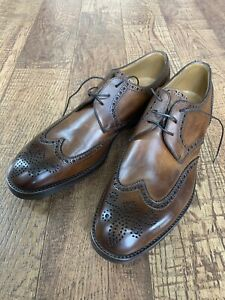 NWB GRAVATI Brown Leather Derby Brogue  Shoes Men Shoes Size 9.5 US /8.5 EU