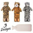 WILD ANIMALS HOT WATER BOTTLE - With Warm Plush Super Soft Cover 900ml **NEW**