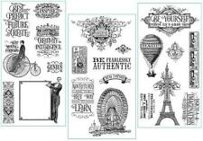 Graphic 45 WORLD's FAIR 21pc Cling Stamp 1-2-3 French Vintage Mixed Media