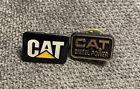 Lot Of 2 Cat Diesel Power Farm Equipment Caterpillar Tractor Hat Lapel Pin New
