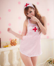 Sexy 3 - Piece Nurse Outift  Costume Lingerie PINK 241 Naughty