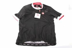 NEW Castelli GPM Cycling Jersey Men's XL Black/Gray/Red Short Sleeve
