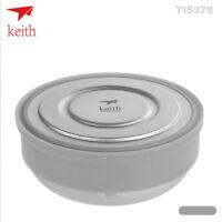 Keith Titanium Bowl Outdoor Camping Picnic Bowl Cookware Full Anti-scald