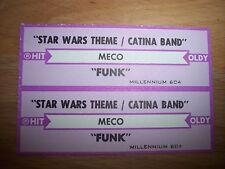 "2 MECO Star Wars Theme / Funk (p) Jukebox Title Strip CD 7"" 45RPM Records"