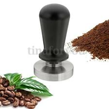 58mm 304 Stainless Steel Coffee Tamper Flat Base Aluminum Handle Pressure 30P
