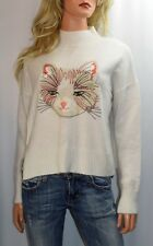MOTH ANTHROPOLOGIE Miaou Turtleneck Sweater Size Small Petite