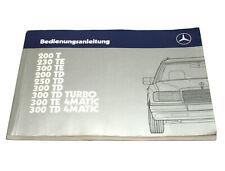 Original Betriebsanleitung / Anleitung Mercedes Benz Typ S124, Ausgabe A, 1987
