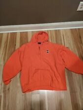 Vintage 90s University of Illinois Quarter 1/4 Zip  Hooded Sweatshirt Men's XL