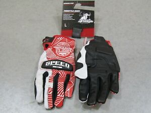 SPEED AND STRENGTH THROTTLE BODY GLOVE LEATHER/TEXTILE RED/WHITE LARGE
