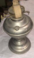 P&A Duplex Burner On Silver Color Table Oil Lamp Vintage!