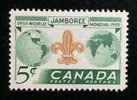 Canada #356 MNH, Boy Scouts World Jamboree Stamp 1955