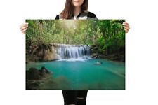 A1| Waterfall Poster Art Print Size 60 x 90cm Nature Poster Decor Gift #14197